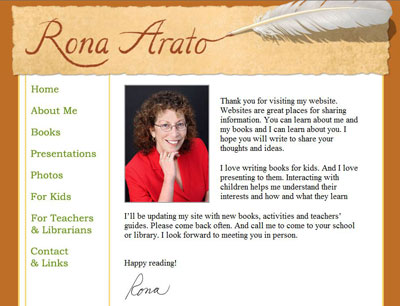 Rona Arato, author
