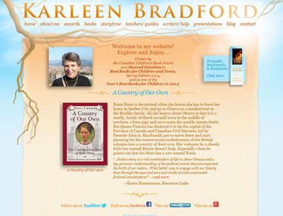 Karleen Bradford, author