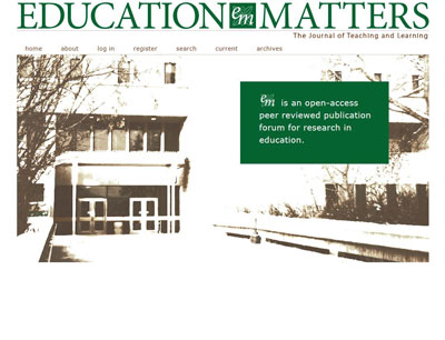 Education Matters - online journal