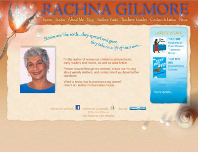 Rachna Gilmore, author