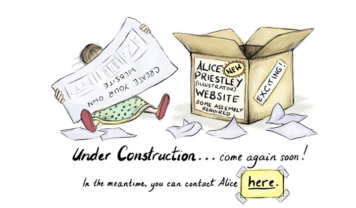 my under construction notice - Photoshop illustration