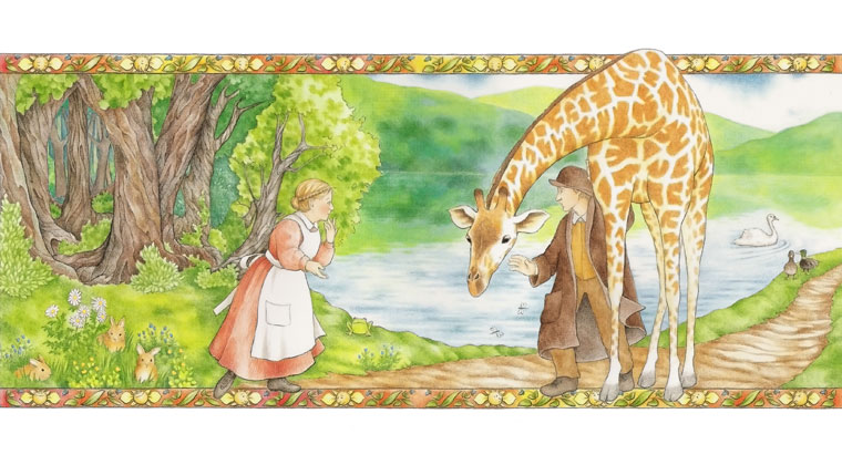 the giraffe - illustration from Someone is Reading This Book